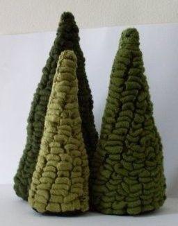 Hooked Rug Trees: