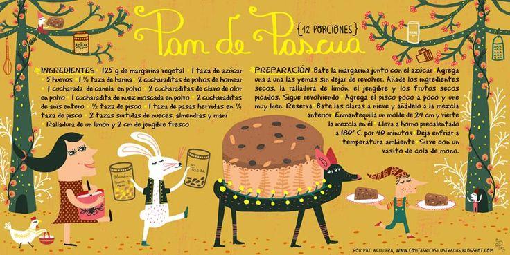Cositas Ricas Ilustradas por Pati Aguilera: Pan de Pascuas