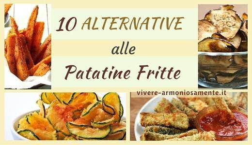 Le alternative alle patatine fritte sono tante! Ecco qualche ricetta leggera come chips di zucchine, chips di carote, chips di cavolo nero, melanzane, zucca