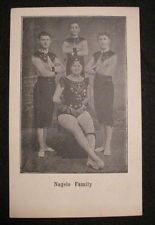 Vintage Circus Act-Nagels Family-Post Card-Acrobats-Woman-Three Men-Costumes