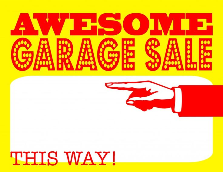 DIY Printable Awesome Garage Sale Signs for our Upcoming Community Garage Sale Event