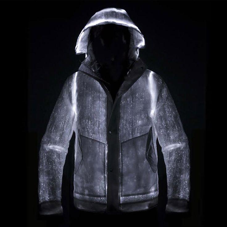 nemen LED jacket weaves optical fibers within nylon and steel fabric - designboom | architecture
