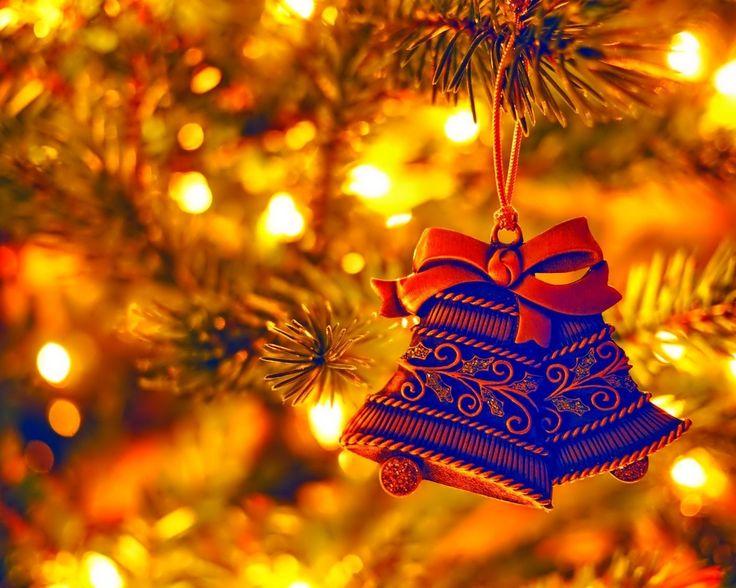 новый год, елка, огоньки, колокольчики, красиво