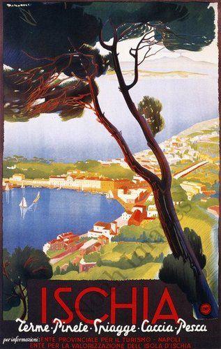 Ischia Vintage Travel Poster Repro 24x36 | eBay