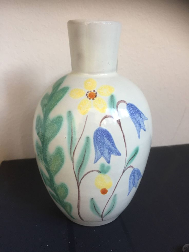 Anna-Lisa Thomson/Ekeby/1947/handpainted/vase/Swedish by WifinpoofVintage on Etsy