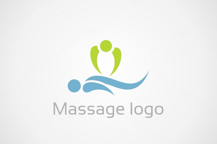Massage logo by Vector30.com on Creative Market