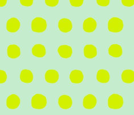 Jumbo Dots in mint/neon fabric by domesticate on Spoonflower - custom fabric
