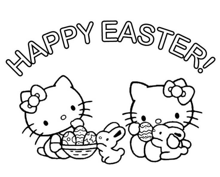 Hello Kitty Coloring Pages Easter | Hello kitty coloring ...