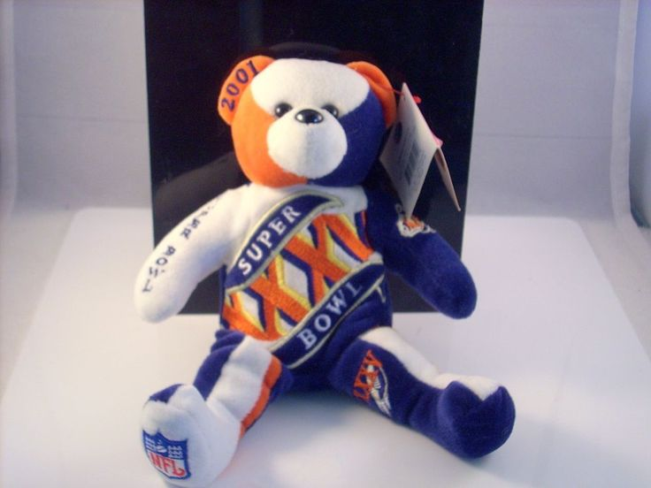 Super Bowl XXXV January 28, 2001 Authentic NFL Team Beans Bear NEW Tampa FL #NFL #TampaBayBuccaneers