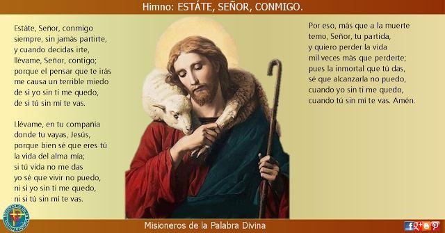 MISIONEROS DE LA PALABRA DIVINA: HIMNO LAUDES - ESTÁTE, SEÑOR, CONMIGO