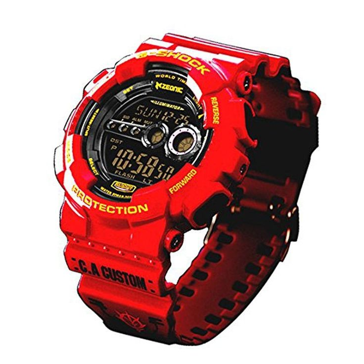 Gundam CHAR AZNABLE MODEL G-SHOCK 35th Anniversary Limited DW-6900 JAPAN Red #CASIO