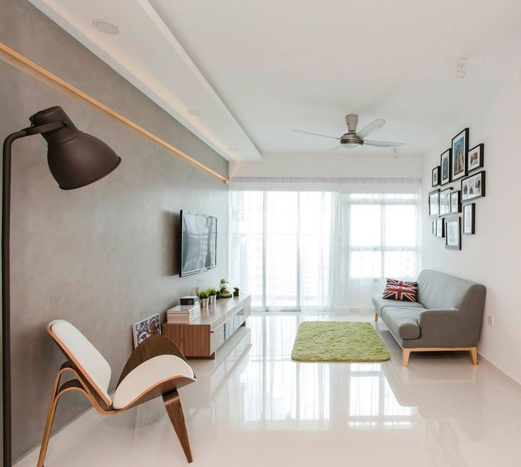 Cozy modern minimalist styled punggol walk hdb apartment for Living room ideas hdb