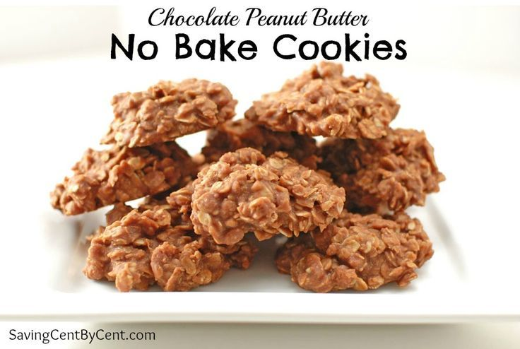 These Chocolate Peanut Butter No Bake Cookies are easy and quick to make.