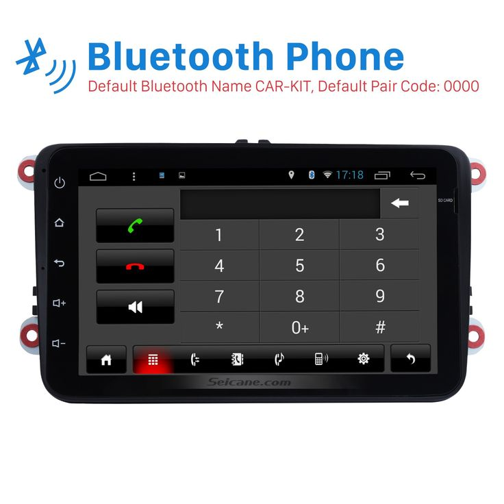 8 inch 2 din HD Touchscreen Android 5.0.1 Quad-core Radio Stereo GPS navigation system for 2003-2012 VW Volkswagen Passat Golf Jetta with USB OBD2 16G Flash Bluetooth music 4G Wifi