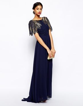 I just like the embellishment on these dresses. Virgos Lounge Lena Maxi Dress With Embellishment
