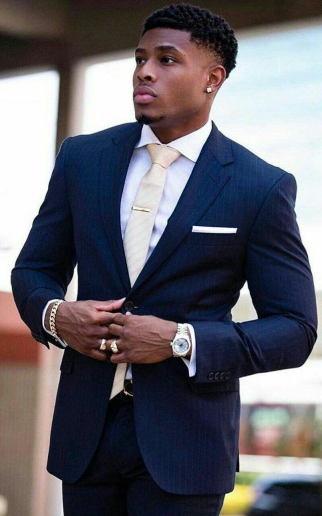 How to wear a beige tie for men looks & outfits) Men In Black, Handsome Black Men, Black Boys, Black Men In Suits, Sharp Dressed Man, Well Dressed Men, Mens Fashion Suits, Fine Men, Suit And Tie