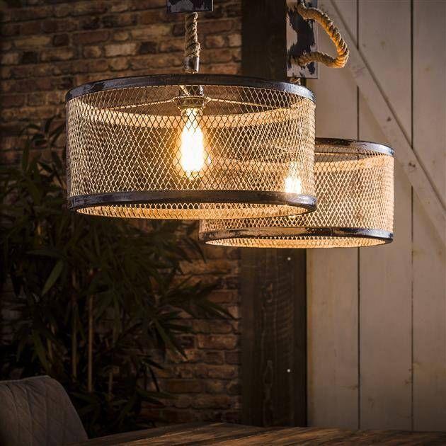 Alaska Hanglamp 2xi 40 Mesh Verstelbaar Touw Industrieel Wonen B V Industriele Hanglampen Hanglamp Rustieke Lampen
