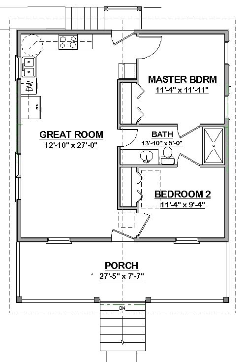 317 best images about small house plans on pinterest one bedroom cabin and cottage floor plans - Tiny house small space plan ...
