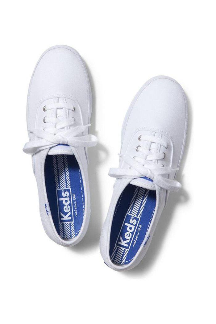 girls wearing white keds champion slip ons
