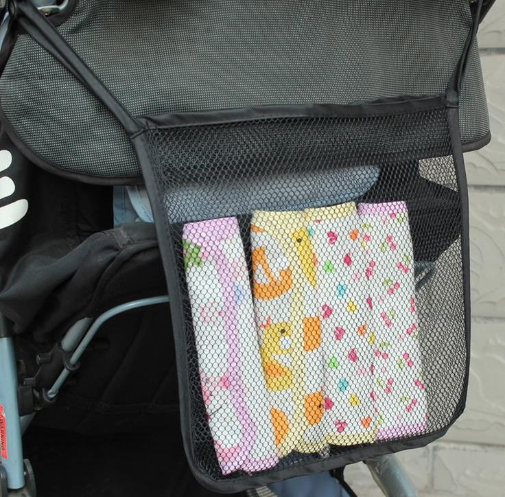 Baby Stroller Hang Bags Multi-function Hollow-out Receive Bag Cart Hanging Bags Infant Shopping Accessories 50pcs/lot