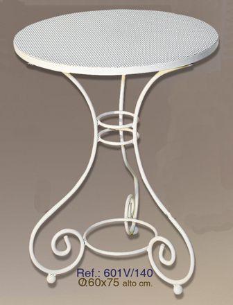 Mesa de forja pequeña circular de 60cm de ancho.  #mesa, #forja, #hierro, #forjado, #decoracion, #rustica, #comedor