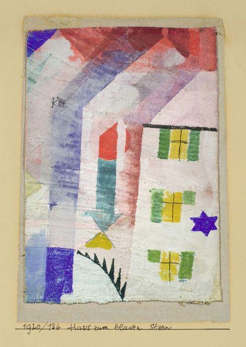 Paul Klee (Swiss, 1879 – 1940) Blue Star House (Das Haus Zum Blauen Stern), 1920