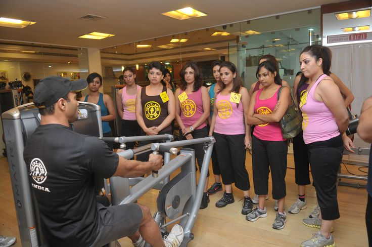Training session from the trainer to carry out the process of the contest smoothly. Year 2011 At Gold's Gym Bandra.