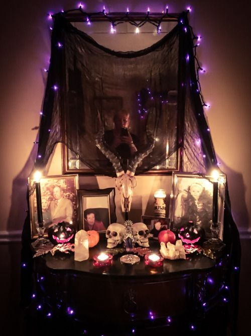 altar samhain pagan witch halloween wiccan wicca decor ancestor magick occult witchcraft decorations bedroom magic want alter altars room witches