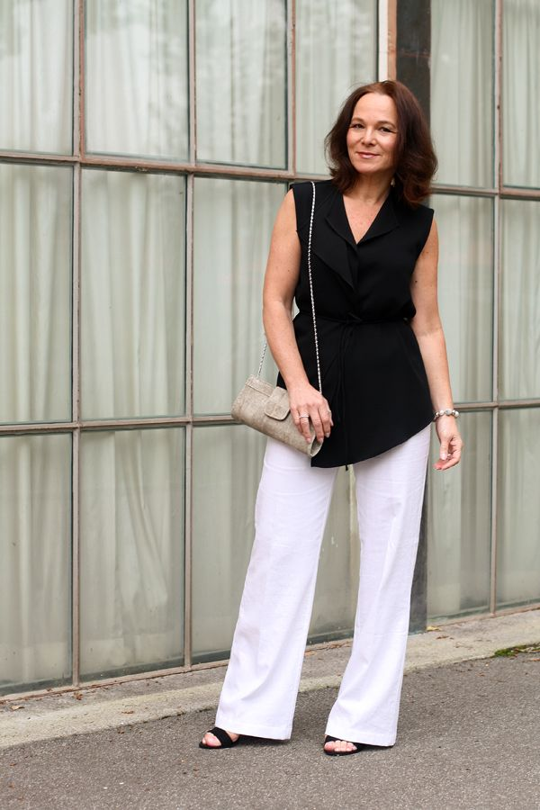 WIDE LEG LINEN TROUSERS DRESSED UP | Lady of Style