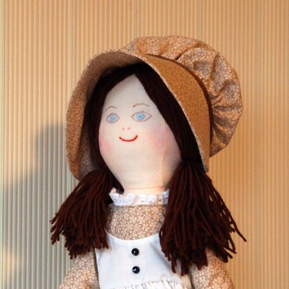 Holly Hobbie Doll Brown Dress and Bonnet by litlval on Etsy