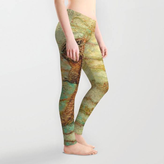 FREE Shipping + $5 OFF ANYTHING until Nov 8/2015 with this LINK https://society6.com/colmitchellpaperartist?promo=928XH9FF43V7  Jewel of the Underbrush (Chipmunk) Leggings by Col Mitchell Paper Artist | Society6