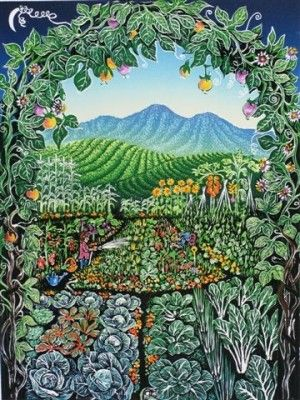curtisa - into the garden 2009 220 x 290 mm $395