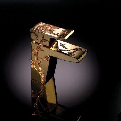 Maier Luxury Einhebel Waschtischmischer Gold mit Click Clack Ablauf