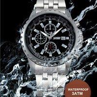 Wish   SKMEI Relojes Business watches Men Luxury Brand Fashion Clock Men's Quartz Watch Casual Full Steel Wristwatch Reloj Hombre 2015