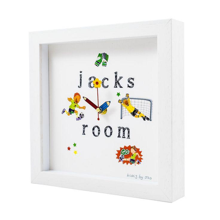 Personalised handmade clock for kids room www.kloczbyjos.com