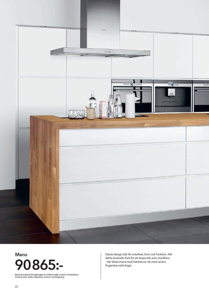 Natural timber bench top with clean white cabinetry home sweet home pinterest kitchens - Keuken back bar ...