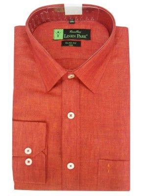 www.ramrajcotton.in/men/shirts/linen-park-shirts/Linen-Light-Red - Full Sleeve Linen Park Shirt Light Red Color Online Shopping in India. Linen Park Shirts available at both Half & Full Sleeve.