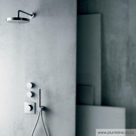 Fukasawa Thermostatic Mixer & 2 Stop Valves - Bathroom Tapware - Bathroom