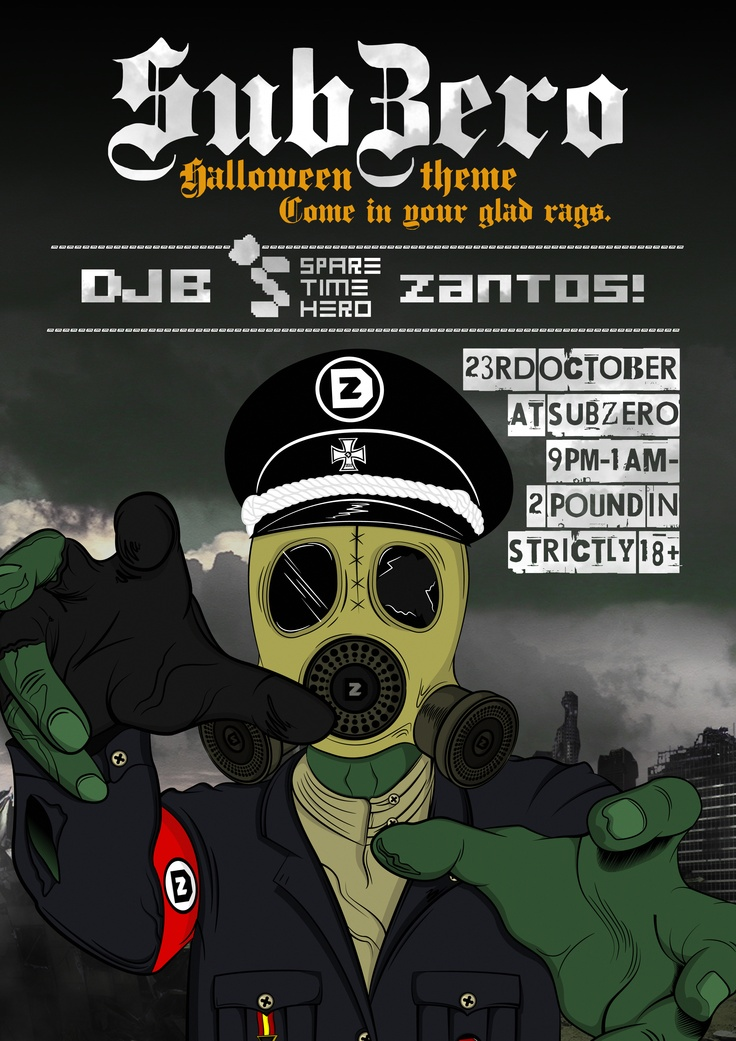 Dubzero 4 - Dubstep night event poster.