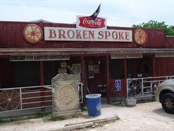 """THE LAST OF THE TRUE TEXAS DANCEHALLS – THE BROKEN SPOKE - This is the famous Broken Spoke in Austin. It's hosted some of country music's best and they are widely seen as the """"last of the true Texas dancehalls""""."""