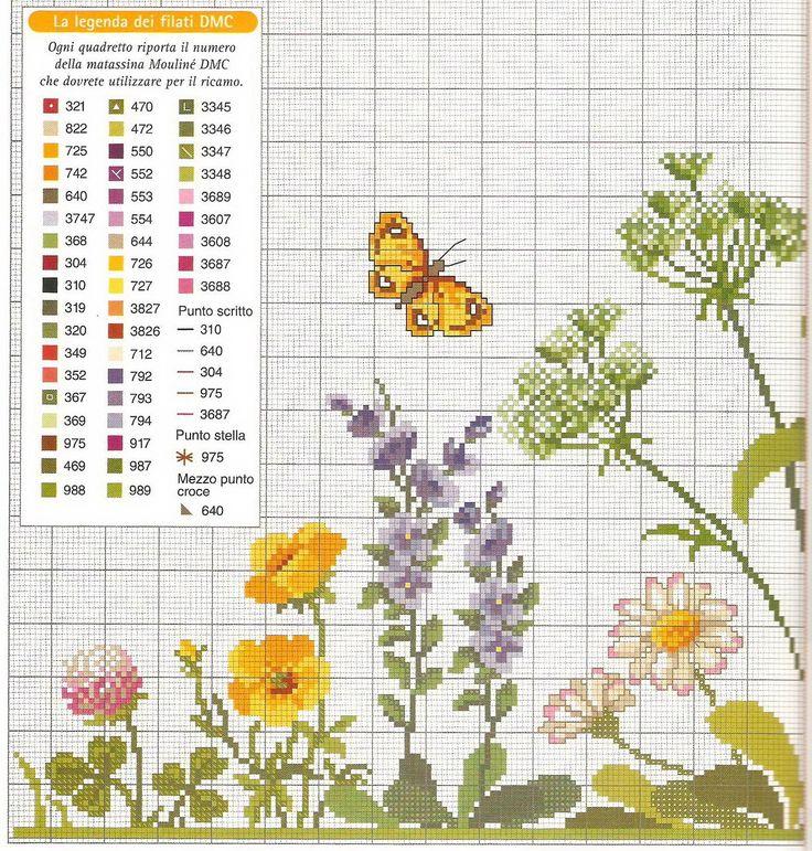 Mejores 116 im genes de jardin punto de cruz en pinterest - Punto jardin ...