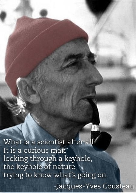 Image result for jacques cousteau what is a scientist after all?