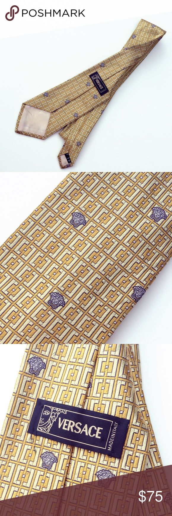 NWOT authentic Versace men's tie Versace brand and great for going to work/formal events/parties! Never used! Versace Accessories Ties