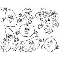 Preschool Coloring Pages Fruits And Vegetables Image Gallery HCPR