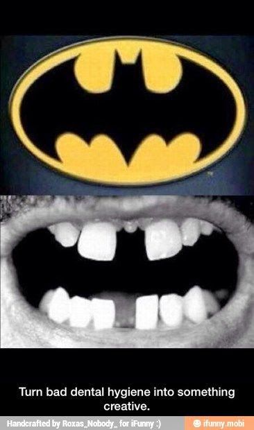 Turn bad dental hygiene into something creative.  #DentalHumor #DentalJokes #HowardFarran #Dentist #DentalHygiene #Google+