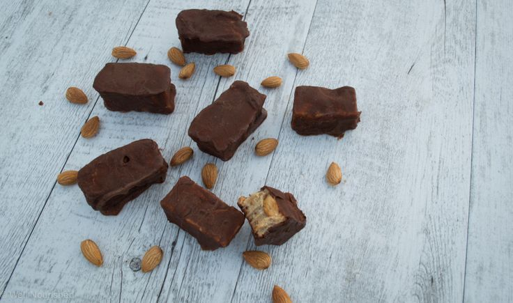 Raw Snickers Bar ⎮ Two simple steps, low sugar, gluten, dairy, egg & fructose free ⎮ No bake ⎮ No dried fruit ⎮ Best guilt free way to satisfy a sweet tooth.