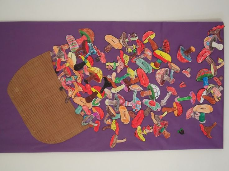 BOLETS DE TARDOR - Material: paper, cartró, colors, tisores, cola - Nivell: Menjador Infantil P5 2014-15 Escola Pia Balmes