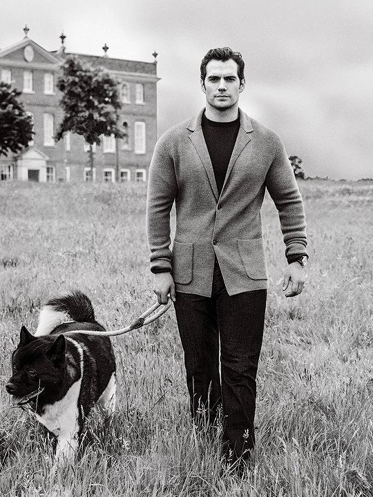 "henrycavilledits: "" ""I have an Akita named Kal. I picked up Kal for the first time during preproduction for Batman v Superman. I got him in Arkansas, which I was sure was pronounced ""Ar-Kansas"" before I got there. I said it in front of lots and lots..."