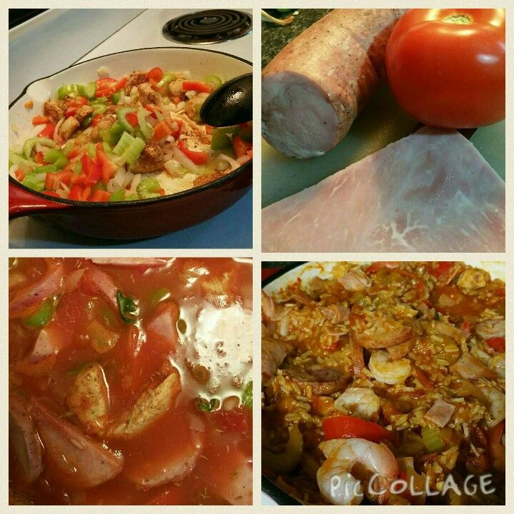 Loaded Jambalaya -- 1 pot meal  #shrimp #jambalya #cajun