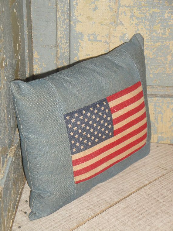 SMALL Flag Pillow Pillow With Flag Americana Pillow